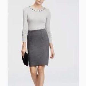 Ann Taylor dark gray pencil skirt